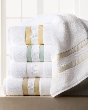"""""""Marlowe"""" Towels by Matouk at Horchow."""