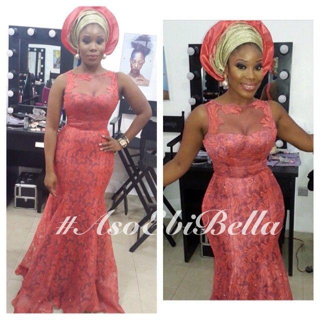 BellaNaija Weddings presents #AsoEbiBella – Vol. 66 coral pink gold Nigerian wedding bride gele inspiratio  #ChiefBridesmaid