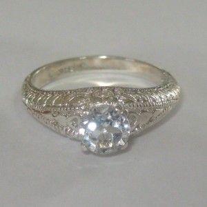 Cincin Silver White Topaz Ring 7US