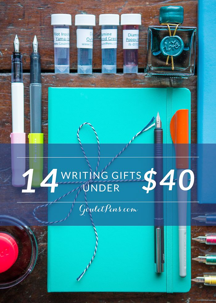 Looking for fabulous fountain pen gifts that won't break the bank? Check out our blog to read our gift guide featuring 14 writing gifts under $40. Pin for later.