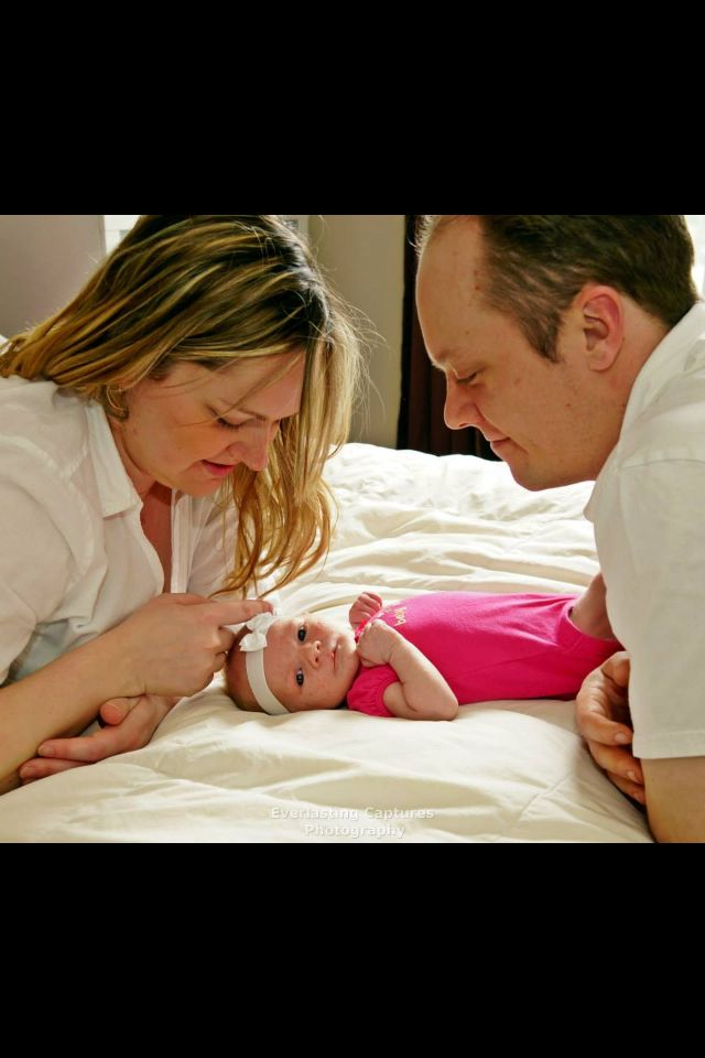Baby Emma, Mommy and Daddy!