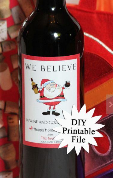 15 best Wine Label Fun images on Pinterest Christmas wine bottle - free wine bottle label templates