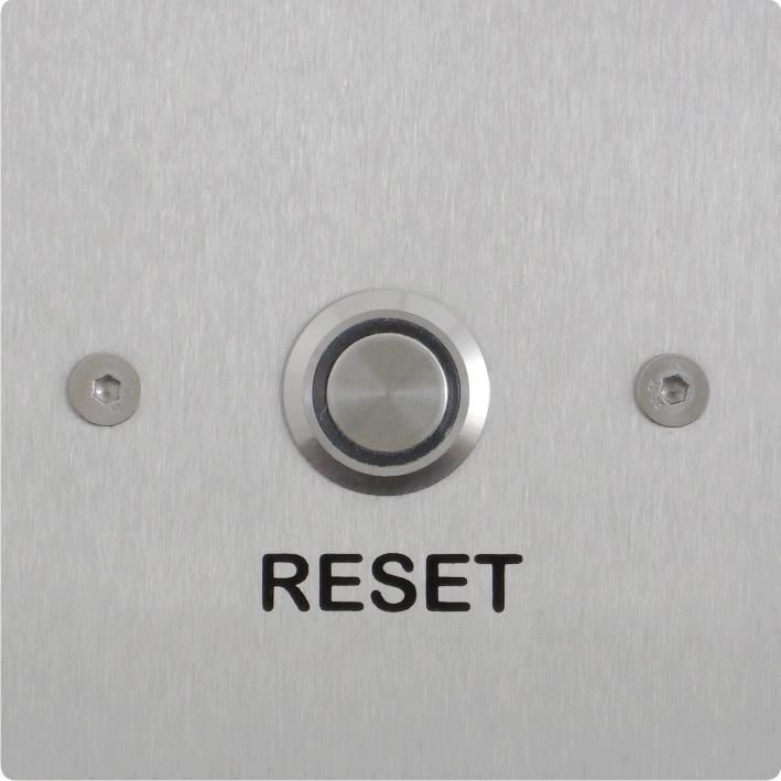 DT7540.00B: New, stylish design, public area, disabled toilet  / emergency assist alarm  reset button with illuminated button. http://www.folknoll.co.uk/products/disabled%20toilet%20alarms/dt7540-00B-disabled-toilet-alarm-reset-button-stainless.html #ToiletAlarm