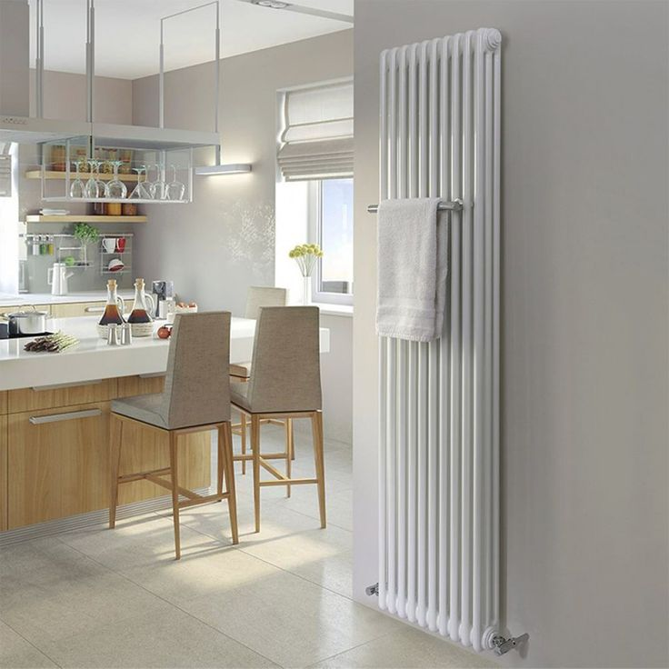Standing tall at 1802mm, the MHS Multisec Vertical Wall Mounted Radiator is assured to add class and style to any home. Crafted from robust steel tubing and finished in a pristine white, this radiator would complement almost any interior. #traditionalradiators