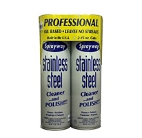 Sprayway® Stainless Steel Cleaner - 2/15oz can - This stuff is magic in a can!  Love, love, love it.