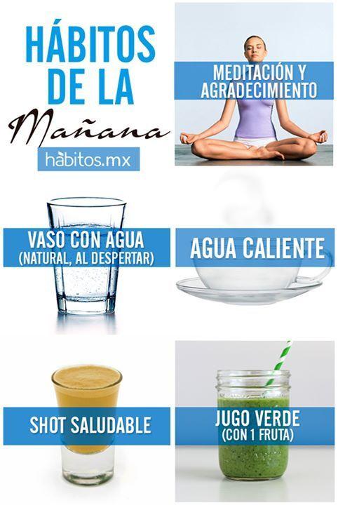 Hábitos de la mañana... #hábitosmx #salud #health #hábitos