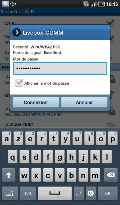 tablette Android : connecter le wifi