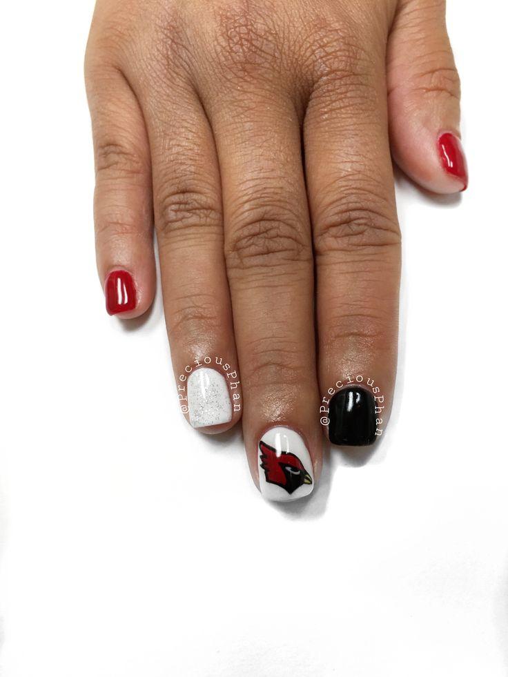 Cardinals nails. Arizona. Nfl nails. #PreciousPhan