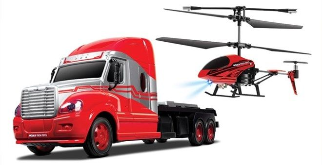 World Tech Toys Combo Pack: MegaHauler 3.5CH Helicopter And Electric RC Truck IR