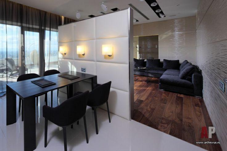Фото интерьера столовой пентхауса | Дизайн интерьера пентхауса с верандой в стиле минимализм | Interior design penthouse with a terrace in a minimalist style