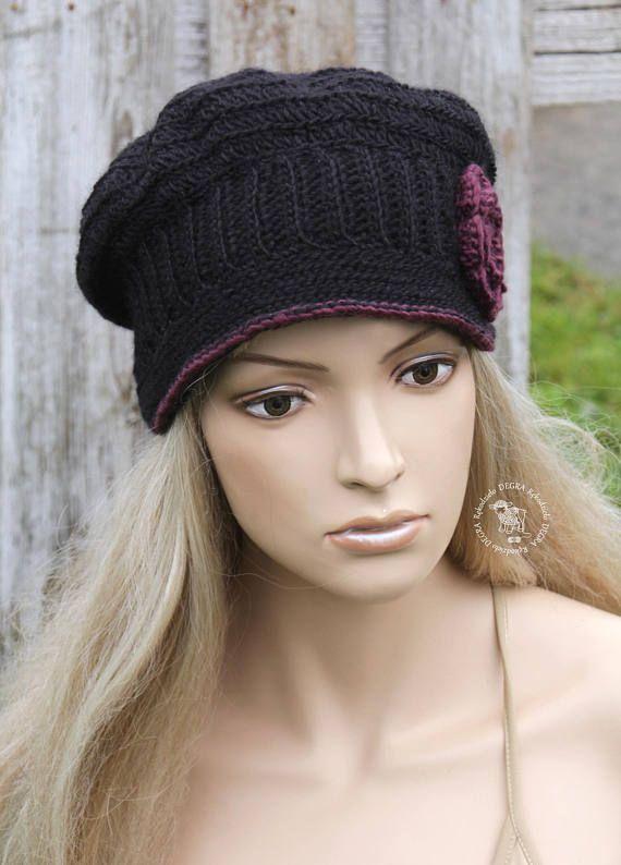 Newsboy women's Winter Women's Hat Women's black