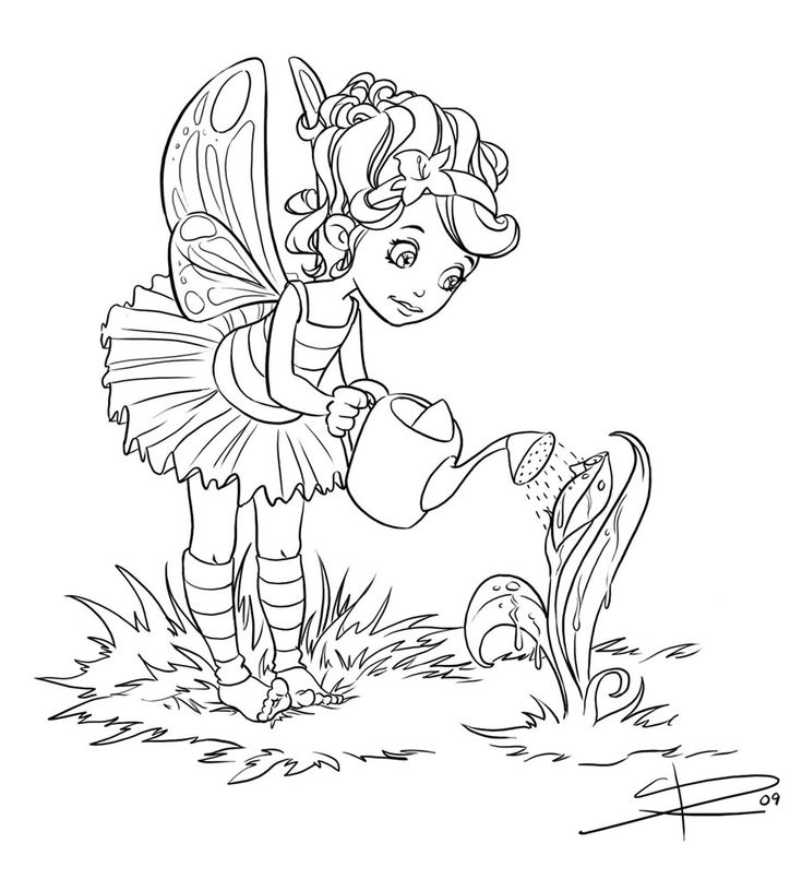 Line Art Digital Painting : Best images about coloring fairyland on pinterest