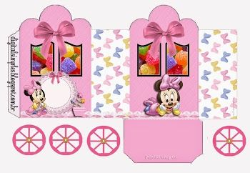 Lovely Minnie Baby: Princess Carriage Shaped Free Printable Boxes.