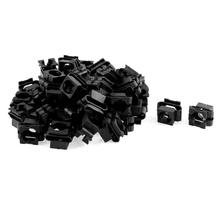 Unique Bargains 50 Pcs Black Plastic Splash Guard Bumper Interior Rivet for VW Passat B5