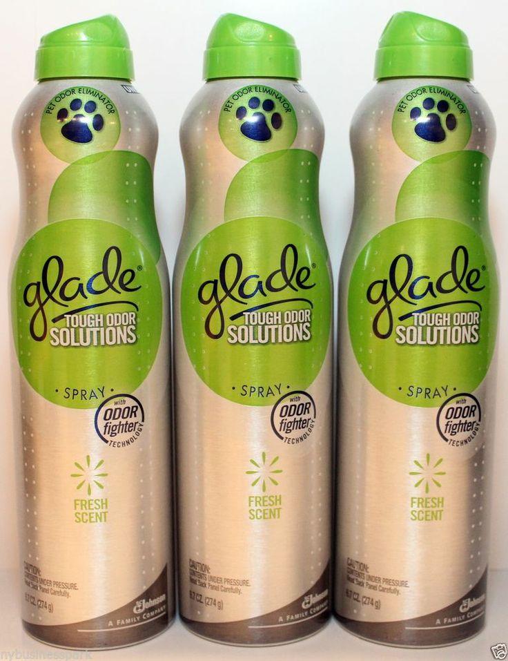 3 Glade Spray Fresh Scent Tough Odor Solutions Pet Odor