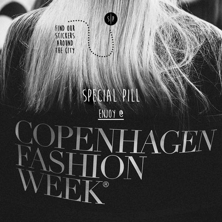 Copenhagen Fashion Week  Special Pill is coming! :-) Find our sticky @ Copenhagen! #SpecialPill #cphfw #cphfwss2016