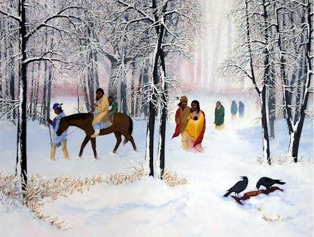 Trail of Tears.  My great-great-grandmother was a Cherokee Indiana, & took part in the Trail of Tears.