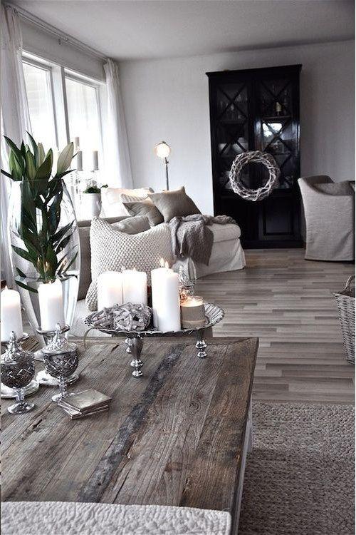 Rustic Warm Interior Design with Greys