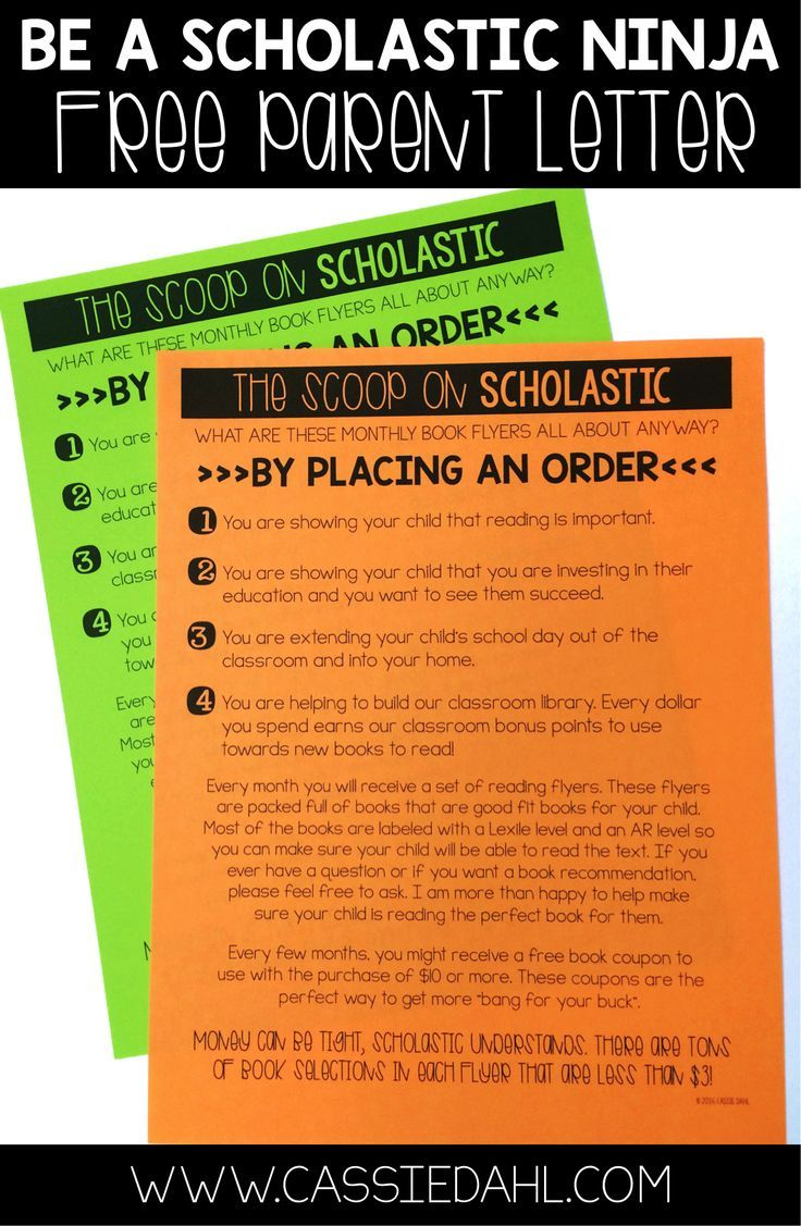 Grab this free parent letter to kick off Scholastic Reading Clubs in your classroom!