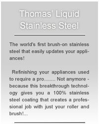 The Official site of Thomas' Liquid Stainless Steel paint for Appliances – USA