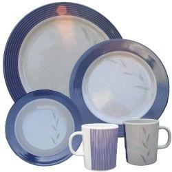 16-piece Melamine Azure Tableware Set. //.kitchengearonline.  sc 1 st  Pinterest & 27 best Dinner Sets images on Pinterest   Diners Dining sets and ...