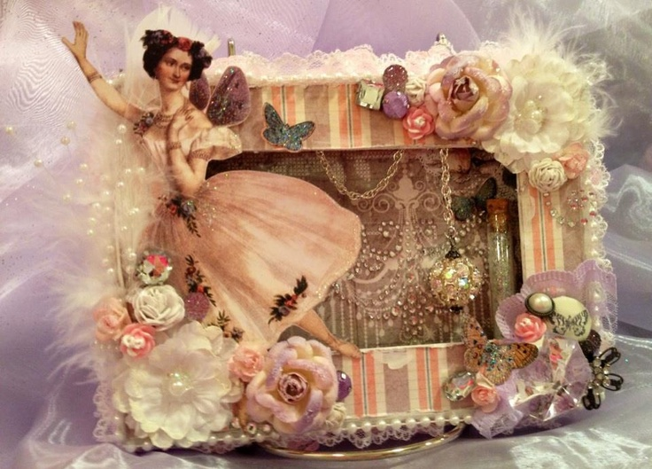 Prima Fairy Belle Shadow Box Frame Card