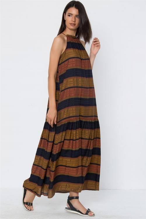 Askılı Uzun Elbise - Fotoğraf