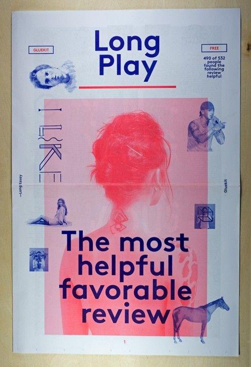 yalegraphicdesign:  Long PlayNewspaper, 2012Design: Gluekit