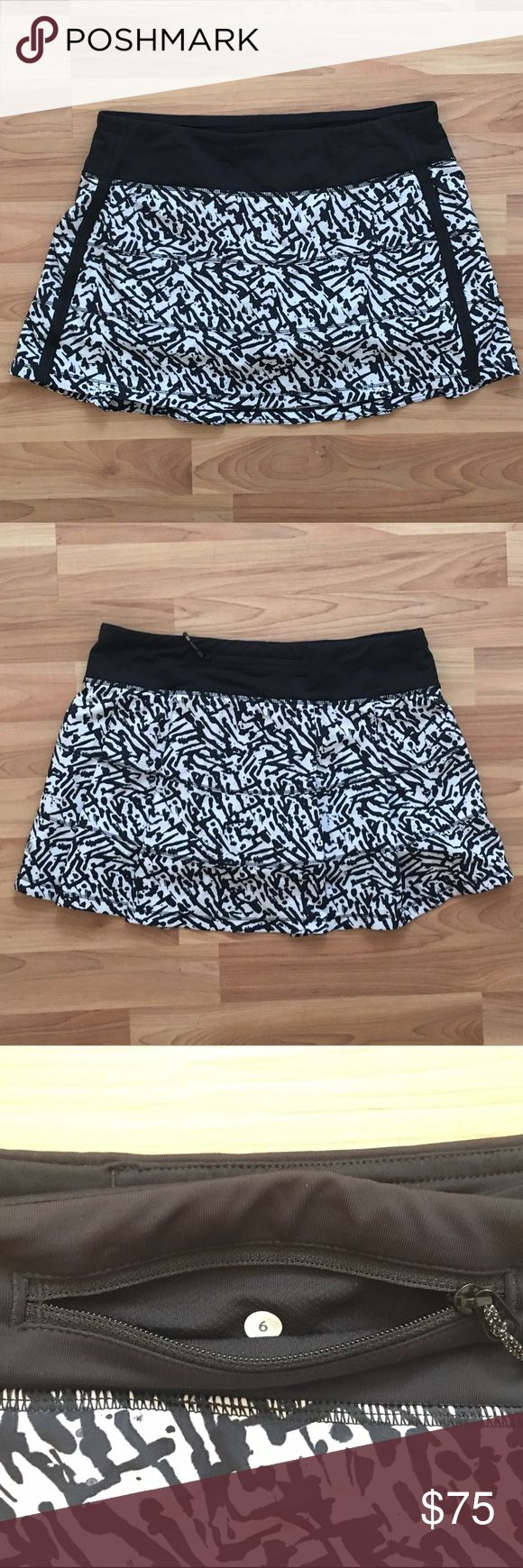 Lululemon Pace Rival Rare Print Skirt Size 6 EUC Lululemon Rival Skirt- RARE brushed animal print. Built- in shorts with silicone grip on the hem. Swift ultra fabric is lightweight, sweat-wicking and has a 4-way stretch. Light luxtreme fabric waistband will not dig. Back zipper pocket and two waistband gel pockets for mid-race snack. Back venting adds breathability and pleats give you room to move! Size 6, hang tag is not attached. Excellent condition- only worn a few times! lululemon…