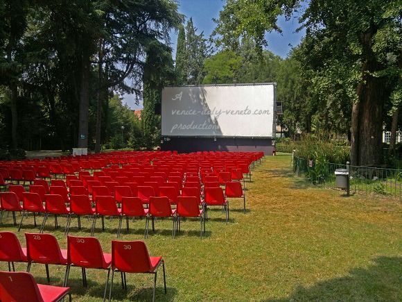 Summer is here and the Italian open-air cinemas are back...love them! A park in Bassano!