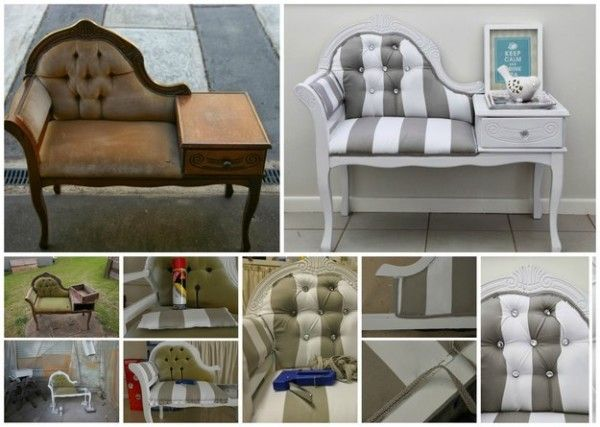 Furniture Makeover! Queen Anne Settee Makeover | http://diyready.com/35-ways-to-transform-your-old-furniture/: