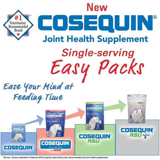 "Never leave your #horse's supplements at home again! Introducing NEW Cosequin® Single-Serve Easy Packs! They're perfect for boarding barns or the ""horse-sitter"" when you are away! Just throw a few packs in the trailer and hit the road for your next big adventure!"