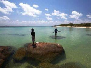 Arnhem Land - in the middle of Australia's northern edge - consists of wild coastlines, deserted islands, savannah woodland and some of the best spots for fishing in the world.