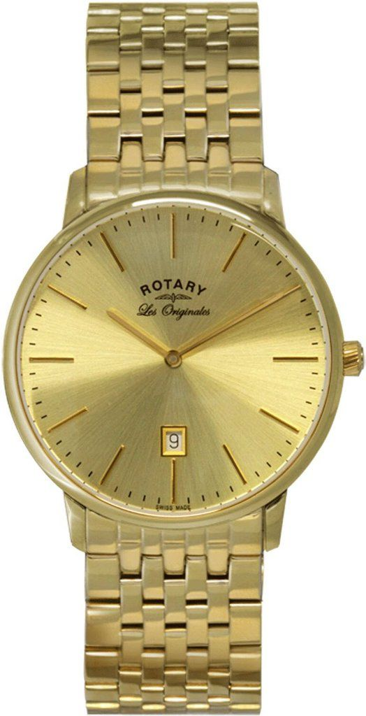 Rotary Watch Les Originales Gents #add-content #bezel-fixed #bracelet-strap-gold #brand-rotary #case-depth-7-3mm #case-material-yellow-gold #case-width-38mm #classic #date-yes #delivery-timescale-1-2-weeks #dial-colour-gold #gender-mens #movement-quartz-battery #official-stockist-for-rotary-watches #packaging-rotary-watch-packaging #style-dress #subcat-les-originales #supplier-model-no-gb90052-03 #warranty-rotary-official-lifetime-guarantee #water-resistant-waterproof