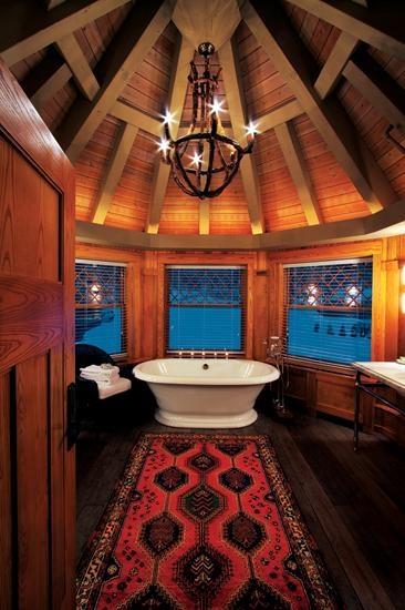 Take a bath here. Lake Placid Lodge, Lake Placid, N.Y.