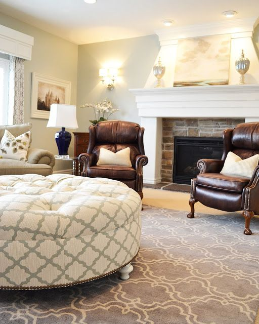 How to do light and airy with dark furniture - I like the box around the window frame