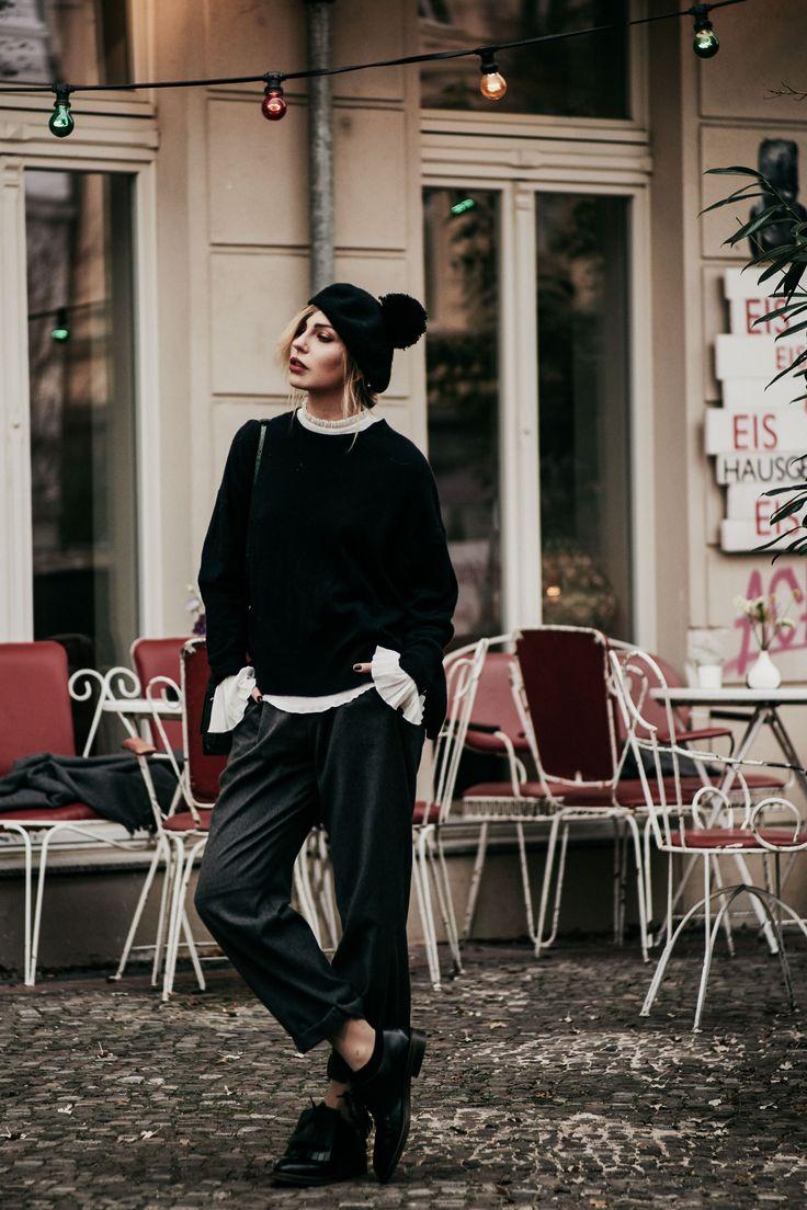 Parisian dandy | style: tomboy, 20s, 30s, 40s, dandy, masculine, ruffles, oversized | location: Kauf dich glücklich, Berlin