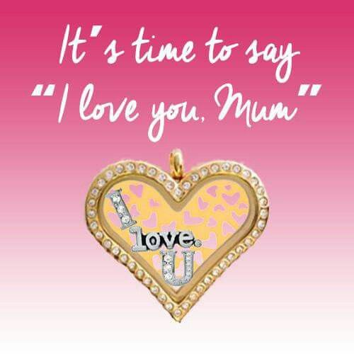 I love you, Mum - Gold CZ Heart Locket. Mother's Day inspiration.