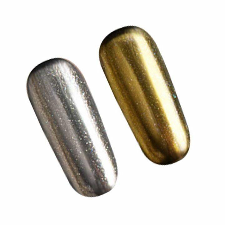 Mirror Effect Miami Gel Aσημί και χρυσό!!! 2ml  στα 4 ευρώ!!! www.e-nails.gr