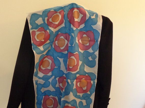 Hand painted silk scarf compilation of different by Scarfaki