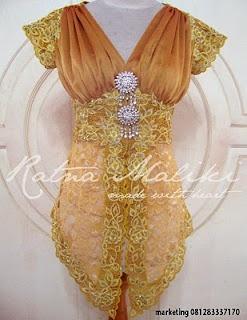 Model Kebaya Modern Lengan Pendek by: Ratna Maliki