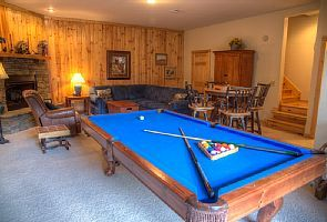 Regulation size pool table. TV in Armoire