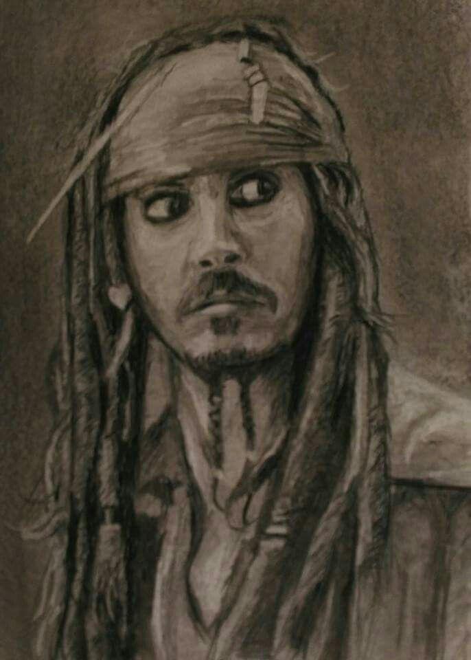 Johnny Depp  -charcoal