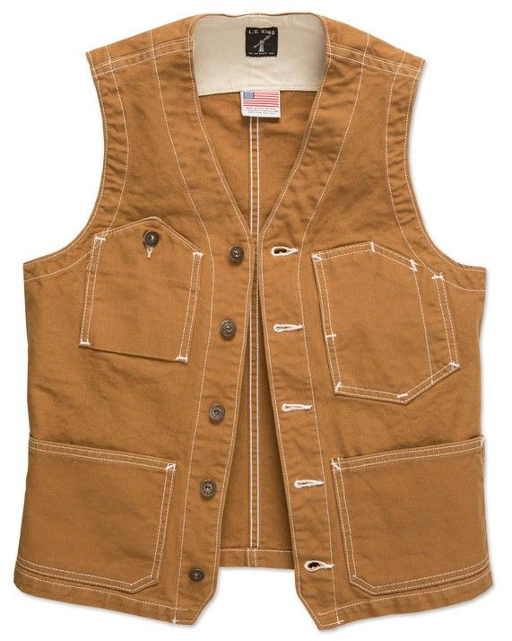 VEST - BROWN DUCK | Clothing & Accessories | LC King Mfg