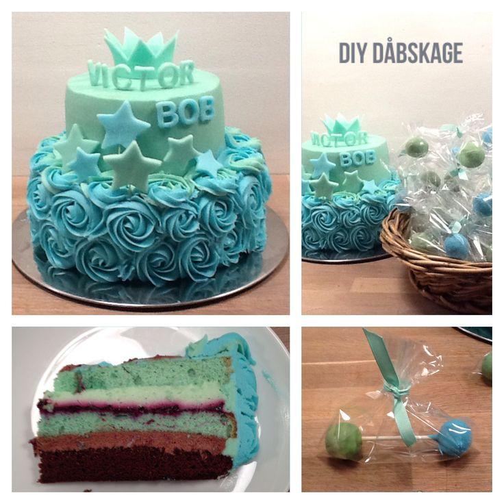 Victors dåbskage - DIY baptism cake