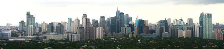 Panorama von Makati City (Metro Manila), dem Finanzzentrum der Philippinen - Philippinen