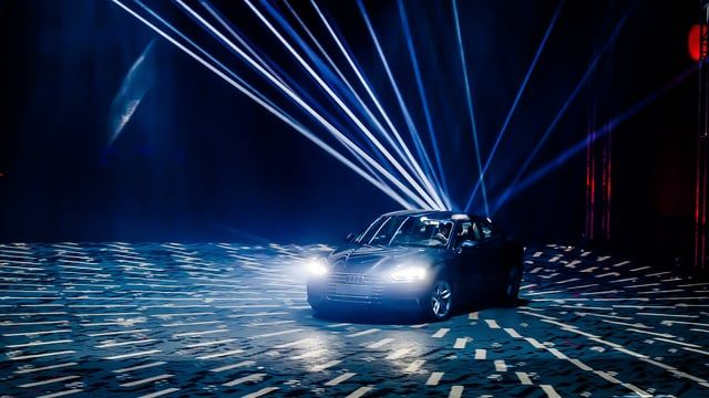 The world's first automobile presentation employing real-time motion tracking technology. Acting as the author of its own presentation, the new Audi A5 coupé effortlessly controlled the 3D mapping scenario by driving around the projected area. Special sensors were attached to the car to detect its precise location in the 300+ sq.m space and to connect it to the live synchronization and rendering system creating impressive video content and controlling light fixtures in real time. More than…