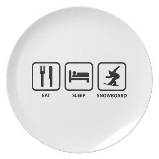 Snowboarding plate