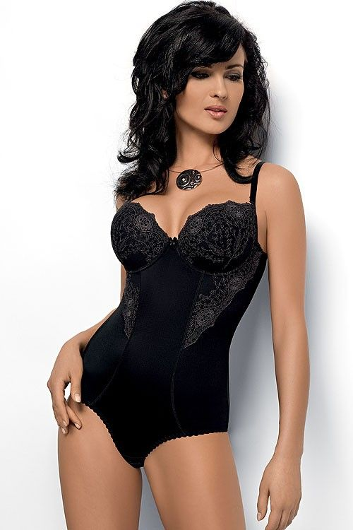 Sleek-fitting and elegant all in one bra and panty underwear. The cups and sides of this body are finished off in a beautiful lace pattern giving ladies the opportunity to show off their figures to perfection. The material smooths and shapes the body. With adjustable and removable straps, fastening located on the crotch, this underwear […]