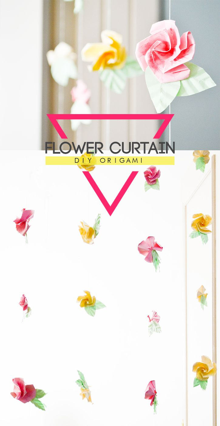 DIY Origami Flower Curtain